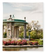 Gazebo At Forest Park St Louis Mo Fleece Blanket