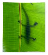 Gecko Silhouette Fleece Blanket