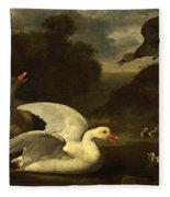 Geese And Ducks Fleece Blanket