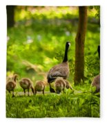 Geese Family Fleece Blanket