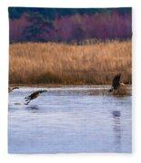 Geese Up And Away Fleece Blanket