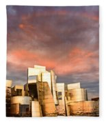 Gehry Rainbow Fleece Blanket