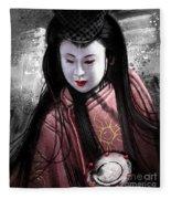 Geisha Kunoichi Fleece Blanket