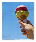 Gelati Ice Cream Cone Fleece Blanket