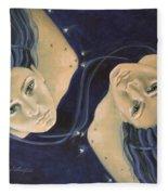 Gemini From Zodiac Series Fleece Blanket