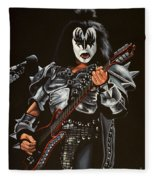 Gene Simmons Of Kiss Fleece Blanket