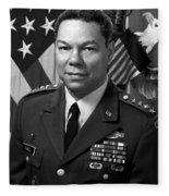 General Colin Powell Fleece Blanket