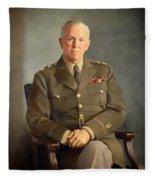 General George C Marshall Fleece Blanket