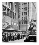 General Patton Ticker Tape Parade Fleece Blanket
