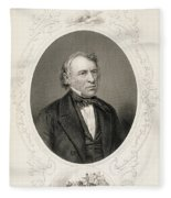 General Zachary Taylor, From The History Of The United States, Vol. II, By Charles Mackay, Engraved Fleece Blanket