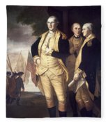 Generals At Yorktown, 1781 Fleece Blanket