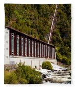 Generator House Of Hydro-electric Power Plant Fleece Blanket