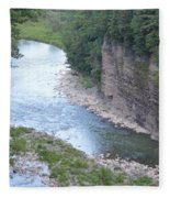 Genesee River In Grand Canyon Of East Fleece Blanket