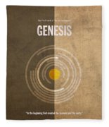 Genesis Books Of The Bible Series Old Testament Minimal Poster Art Number 1 Fleece Blanket