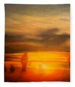 Gentle Sunset Vision Fleece Blanket