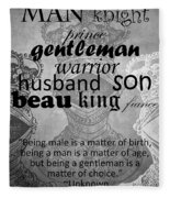Gentleman 4 Fleece Blanket