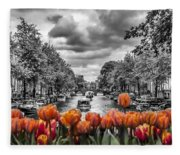 Gentlemen's Canal  Amsterdam Fleece Blanket