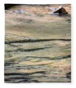 Gently Gliding Water Abstract Fleece Blanket