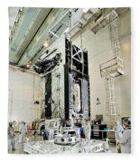 Geo-1 Satellite In Lab Fleece Blanket
