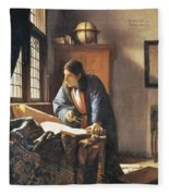 Geographer, 1669  Fleece Blanket