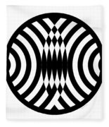 Geomentric Circle 4 Fleece Blanket