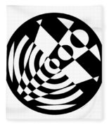 Geometric Circle 5 Fleece Blanket