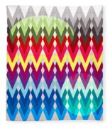 Geometric Colors  Fleece Blanket