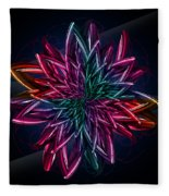 Geometric Flower  Fleece Blanket
