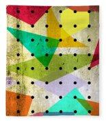 Geometric In Colors  Fleece Blanket