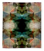 Geometric Textured Abstract  Fleece Blanket