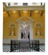 Georg Washington Statue - Capitol Richmond Fleece Blanket