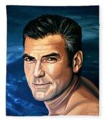 George Clooney 2 Fleece Blanket
