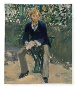 George Moore In The Artist's Garden Fleece Blanket