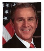 George W Bush Fleece Blanket