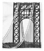 George Washington Bridge Nj Tower Fleece Blanket