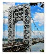 George Washington Bridge Fleece Blanket
