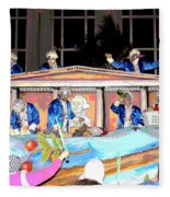 George Washington Float Side View Fleece Blanket