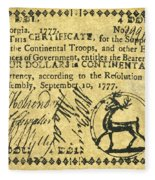 Georgia Banknote, 1777 Fleece Blanket