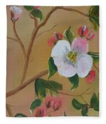 Georgia Flowers - Apple Blossoms- Stretched Fleece Blanket