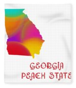 Georgia State Map Collection 2 Fleece Blanket