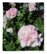 Geranium In Pink Fleece Blanket