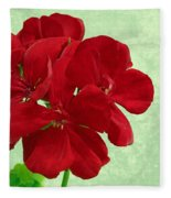 Geranium Fleece Blanket