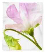 Geranium Pink Fleece Blanket