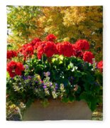 Geraniums Fleece Blanket