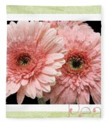 Gerber Daisy Peace 4 Fleece Blanket