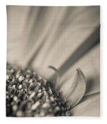 Gerbera Blossom - Bw Fleece Blanket