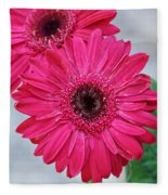 Gerbera Daisy Fleece Blanket