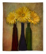 Gerbera Trio Fleece Blanket