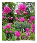 German Catchfly Pink Fleece Blanket