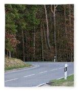 German Country Road Fleece Blanket